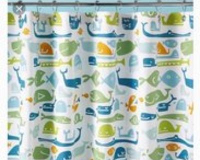 Land of Nod kids shower curtain in excellent condition