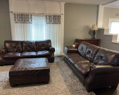 2 couches and huge ottoman