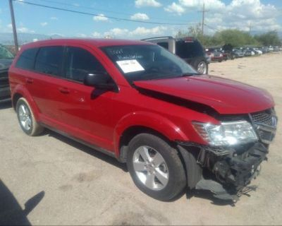 Salvage Red 2013 Dodge Journey