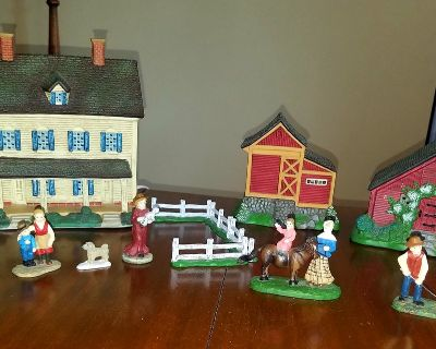 Lang And Wise - Folk Art Village - Meadowbrook Farm - By Linda Nelson Stocks
