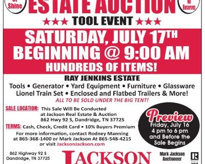 ABSOLUTE AUCTION JENKINS ESTATE DAY 2