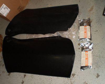 RARE NEW 68 Corvette Black Fiberglass LH & RH Door Shell Pair 1968 454 396 427