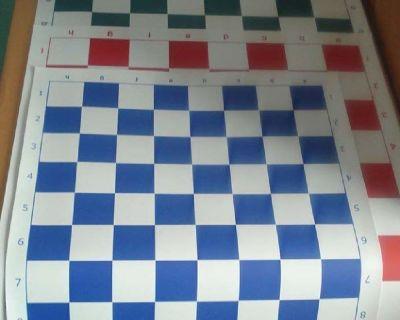 35cm Multi-Color Vinyl Tournament Chess Board