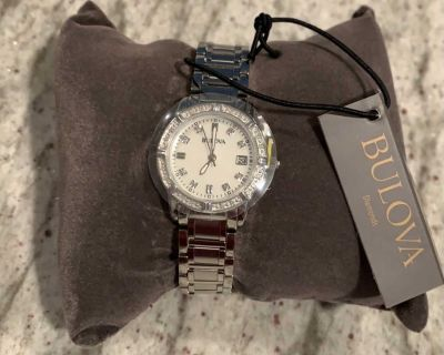 New ladies diamond and mother of pearl Bulova 96R105