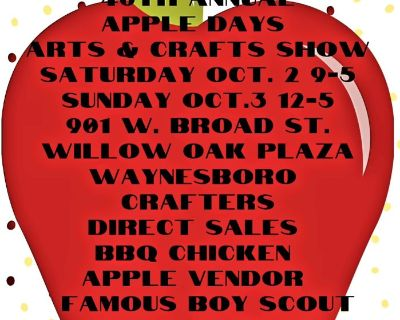 46 th Apple Days Arts & Craft Show
