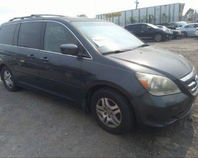 Salvage Gray 2005 Honda Odyssey