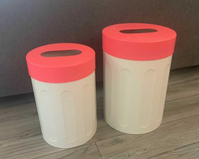 Heavy duty metal storage containers