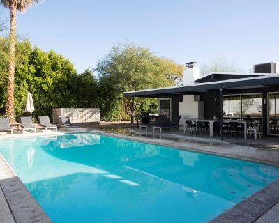 Earthy Midcentury Modern Estate with Pool and Guesthouse, Palm Springs, CA