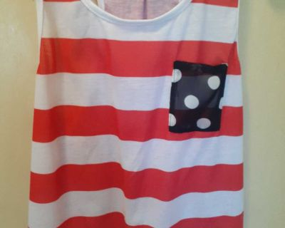 Stripped Tank Top Size Large