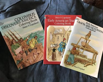 """*Homeschool* Lot of """"Early American""""-Themed Coloring Books"""
