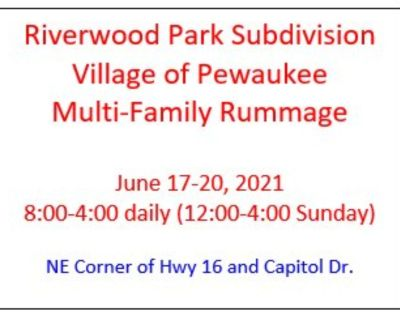 Multi-Family Rummage in Pewaukee June 17-20