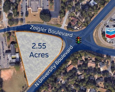 FOR SALE: 2.55 Acres, Hard Corner with Light