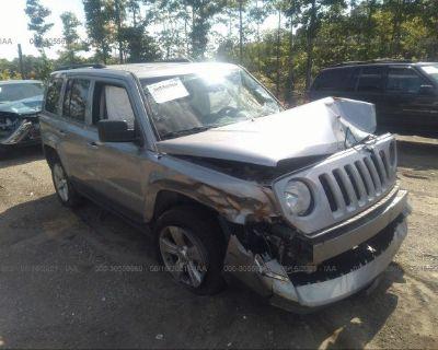 Salvage Silver 2015 Jeep Patriot