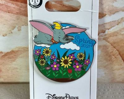 Sliding Flying Dumbo Limited Edition Spring Flowers 2021 Authentic Disney Pin Trading
