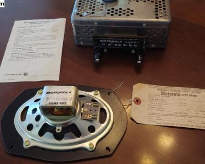 NOS Motorola Big M Volumatic oval Radio w Speaker