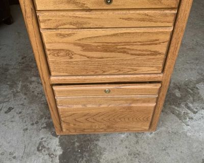 Real wood filing cabinet