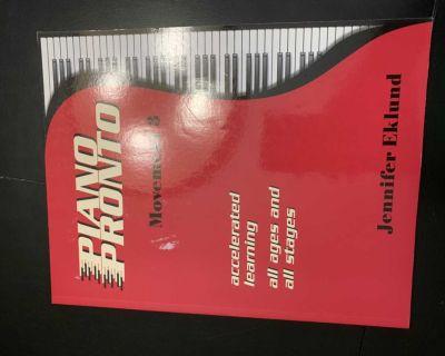 Piano Pronto level 3 piano book
