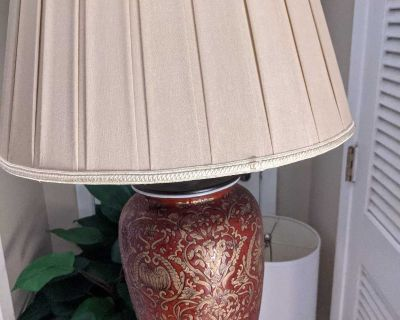 Hand Painted Vintage Table Lamp