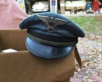 Vintage western airlines pilot hat