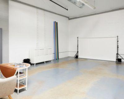 Modern Photo + Film Studio in Art Space with skylights, Alameda, CA