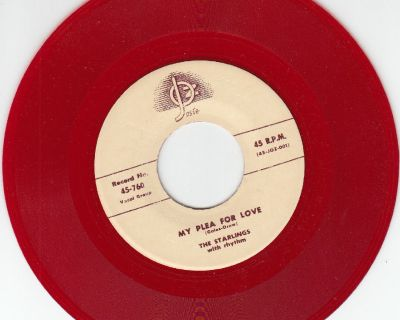 STARLINGS ~ My Plea For Love*Mint-45 RARE RED WAX !