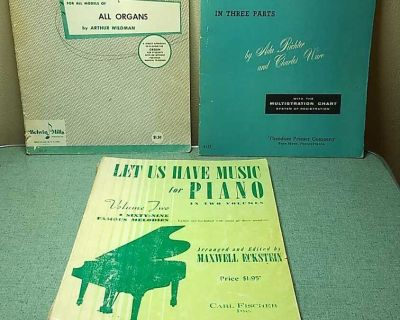 3 music books for piano and organ