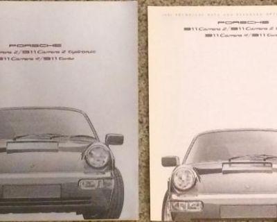 Porsche 1991 911 Carrera Factory Brochure Set XLNT