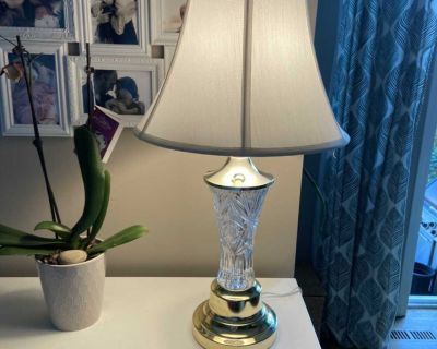Anna Hutte Bleikristall Table Lamp (Lead Crystal) West Germany OBO