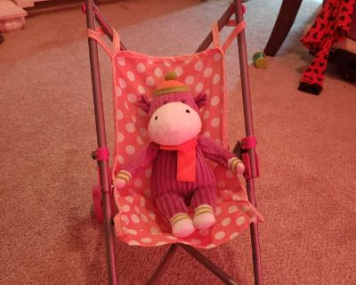 Doll stroller and doll highchair