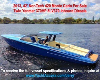 2013, 42' Nor-Tech 420 Monte Carlo For Sale