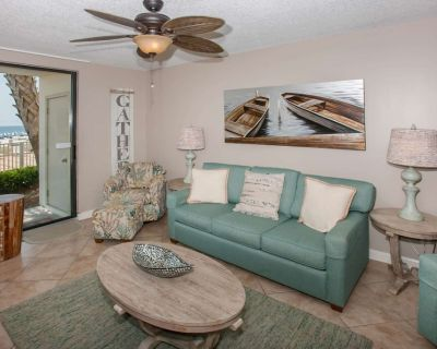 First floor Gulf-front | In/Out/Kiddie pools, Hot tub, Fitness, Tennis, BBQ | Free golf, fishing - Orange Beach