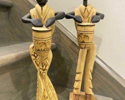 Cuban wood carving statues
