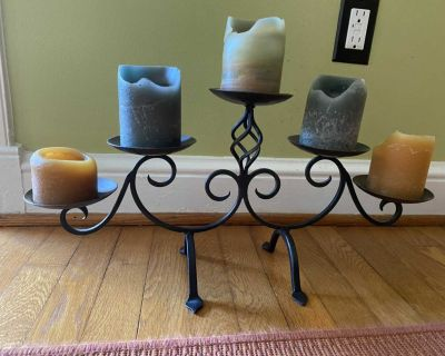 Large Metal 5 candle holder from pier one, GUC but needs a wipe off