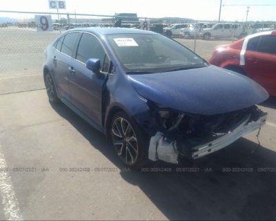 Salvage Blue 2020 Toyota Corolla