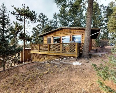 Dog-friendly cabin w/ view of Pikes Peak, detached garage - walk to downtown - Woodland Park