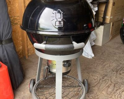 Coleman Cookout charcoal kettle.