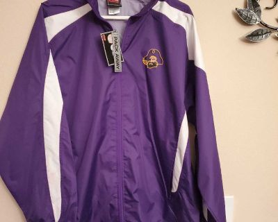 LARGE, GENUINE, ROYAL PURPLE WIND BREAKER JACKET, BRAND NEW NEVER BEEN WORN, EXCELLENT CONDITION, SMOKE FREE HOUSE