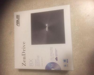 ASUS ZenDrive Ultra Slim USB 2.0 External 8X DVD Optical Drive +/-RW with M-D...