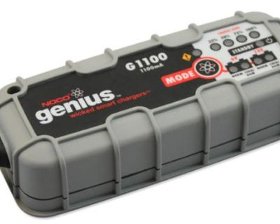Noco Genius G1100 Compact Smart Battery Charger For Both 6 & 12 Volt Charging