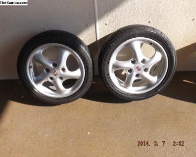 """17"""" Porsche Alloy Rims and Sumitomo Tires"""