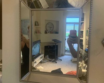 Silver studded mirror
