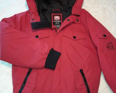 Ecko boys size 10 - 12 winter coat red and black