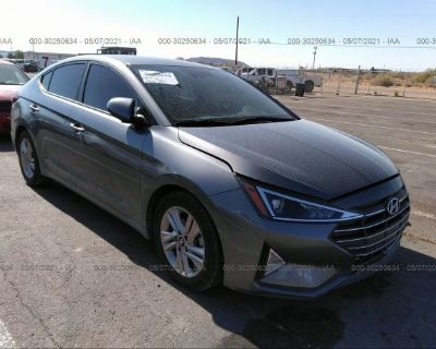Salvage Gray 2019 Hyundai Elantra