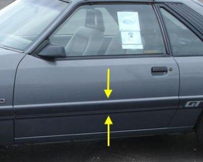1985 & 1986 Mustang Body Side Door Molding Right Hand