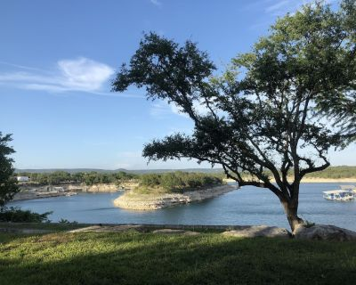 Lake Travis Waterfront Home - Private Retreat w Boat Dock & Panoramic View - Marble Falls