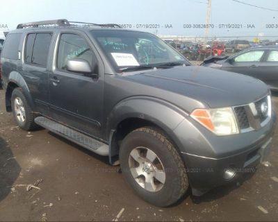 Salvage Gray 2007 Nissan Pathfinder