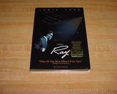 New Sealed With Sleeve RAY Drama Widescreen DVD. Jamie Foxx (Collateral) Stars As The One-Of-A-Kind Innovator Of Soul Who Overcame...