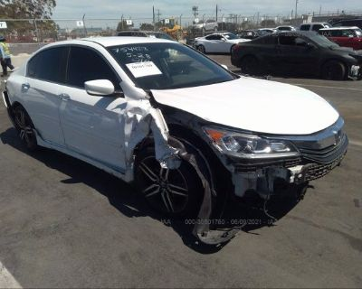 Salvage White 2016 Honda Accord Sedan