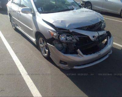 Salvage Silver 2011 Toyota Corolla