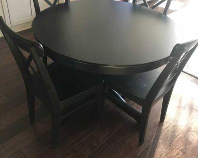 IKEA Ingatorp table + Ingolf chairs